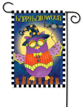Halloween owl garden flag