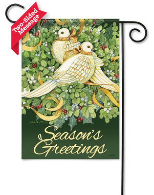 """""""Seasons Greetings"""" reads correctly on both sides"""