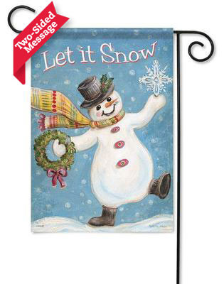 """Let It Snow"" reads correctly on both sides"
