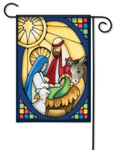 Nativity garden flag