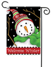 Decorative winter garden flag