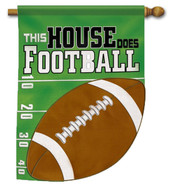 Football party house flag