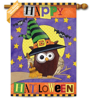 """""""Happy Halloween"""" reads correctly on both sides"""