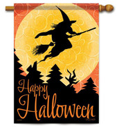 Witch Halloween house flag