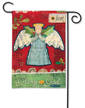 Angel garden flag