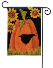 Folk art fall garden flag