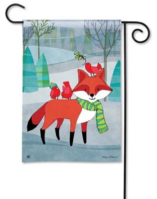 Fox garden flag