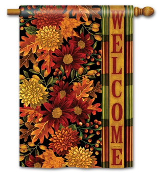 Welcome autumn house flag