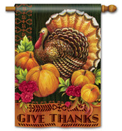 Thanksgiving house flag