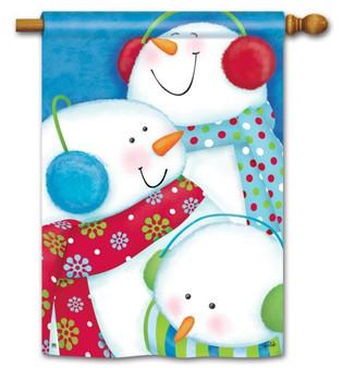 Snowman house flag