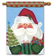 Santa house flag