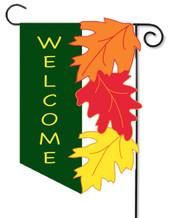 Welcome fall applique garden flag