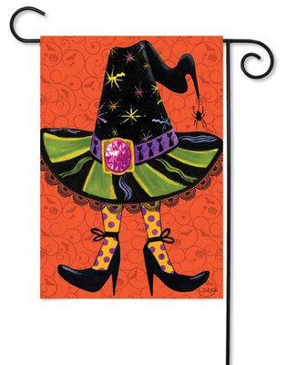 Witch's hat Halloween garden flag