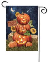 Jack-O-Lantern Halloween garden flag