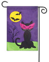 Applique Halloween garden flag