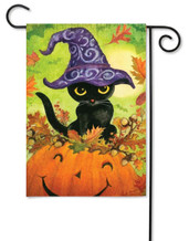Kitty Halloween garden flag