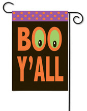 "Boo Y'All Halloween Applique Garden Flag - 12.5"" x 18"""