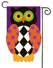 Owl Halloween garden flag