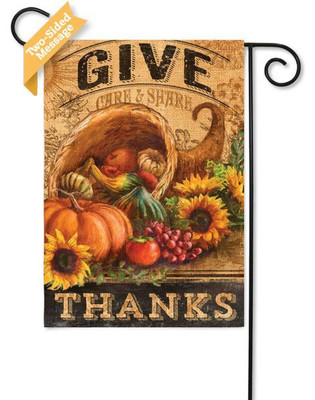 """Give Thanks"" reads correctly on both sides"