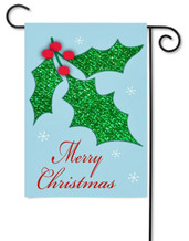 Christmas applique garden flag