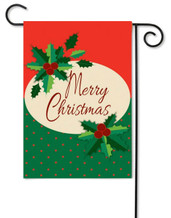 Applique Christmas garden flag