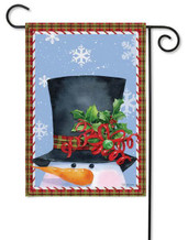 Snowman decorative garden flag