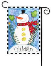 Snowman decorative garden flag