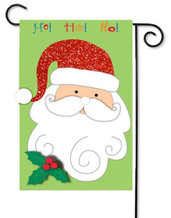 Applique Santa garden flag