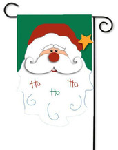 Santa applique garden flag