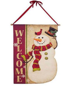 Welcome Snowman Banner