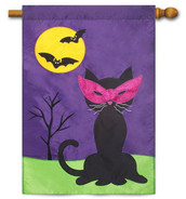 Applique Halloween house flag