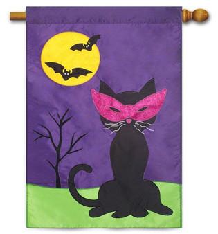 Applique Halloween house flag