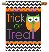 Halloween applique house flag