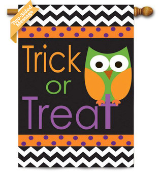 """Trick or Treat"" reads correctly on both sides"