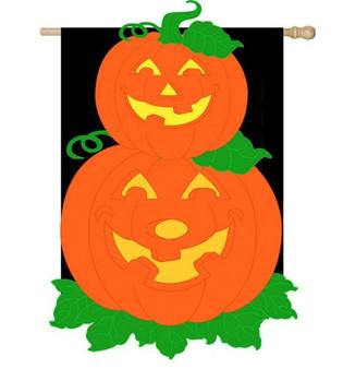 Halloween applique house flag
