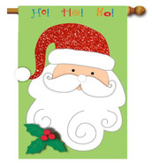 Santa applique house flag