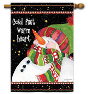 Snowman decorative house flag