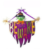 Beware Witch Halloween Door Banner