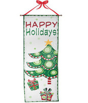 Happy Holidays Door Banner
