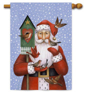 Folk art Santa house flag by Toland