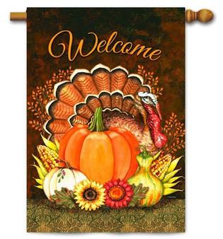 Toland Thanksgiving house flag