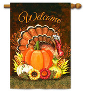 Toland Thanksgiving house flag
