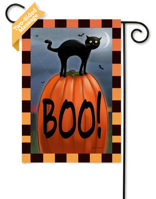 """""""Boo!"""" reads correctly on both sides"""