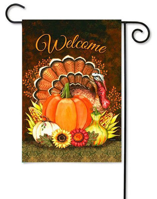 Toland Thanksgiving garden flag