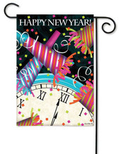 Happy New Year Garden Flag
