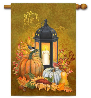Autumn lantern house flag