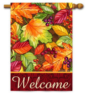 Welcome decorative house flag