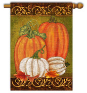 Decorative fall outdoor house flag