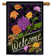 Decorative welcome house flag
