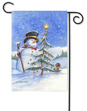 Snowman Toland Garden Flag
